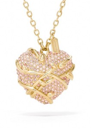 Coach Pave Heart Vine Necklace