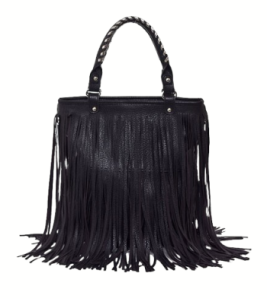 Fringe Studded Shoulder Bag