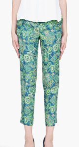 Mint Silk Duccio Trousers