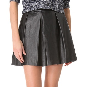 Vegan Imitation Leather Skirt