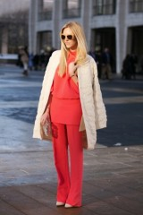 Street Style Trend To Try (NYFW F/W 2013 Edition): Pop of Red